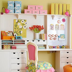 Profesi n sus labores organizar un rinc n de costura decoratualma - Craft area for small spaces property ...