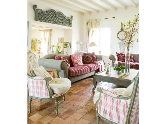Una casa de campo en verde y rosa decoratualma - Decoracion francesa provenzal ...
