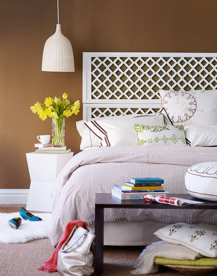Ideas para decorar con piezas heredadas decoratualma - Cabecero madera blanco ...