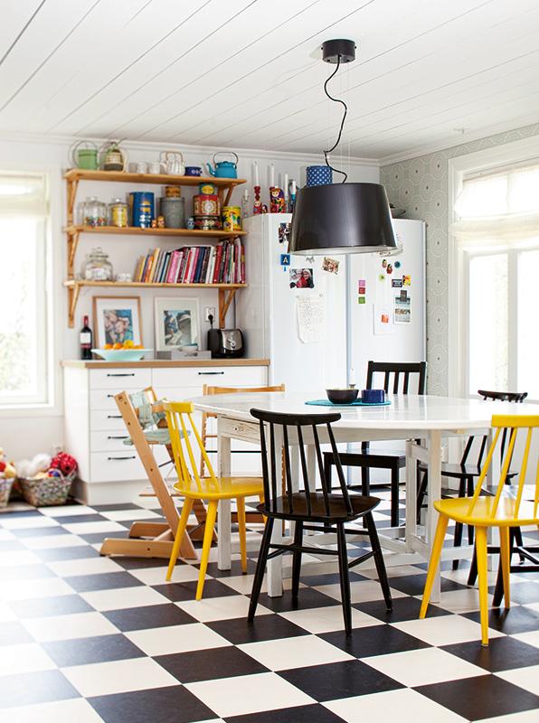 Cocinas con encanto decoratualma for Sillas amarillas comedor