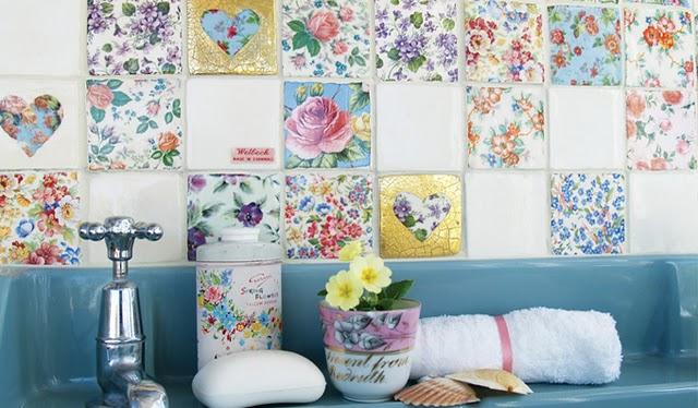 Legan las flores a casa decoratualma - Azulejos con flores ...
