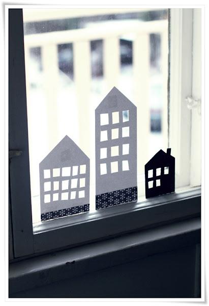 Decorar las ventanas con papel