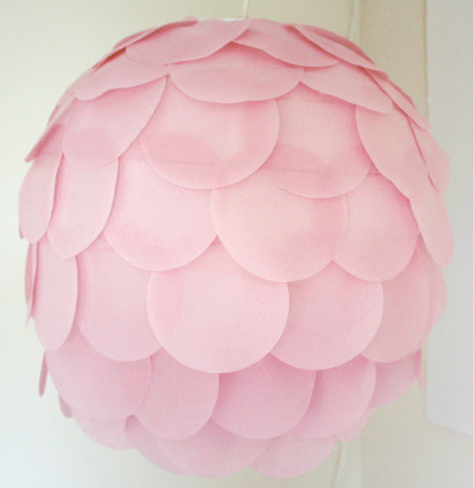 decorar una lampara con papel
