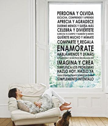 Decora con mensajes positivos decoratualma for Laminas decorativas para salones