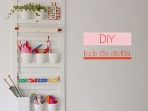 DIY organizador de pared con barandillas