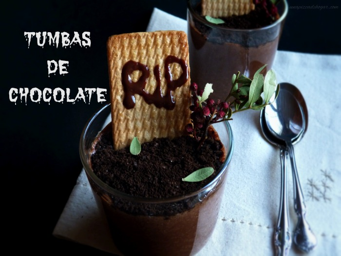 Tumbas de chocolate paral Halloween