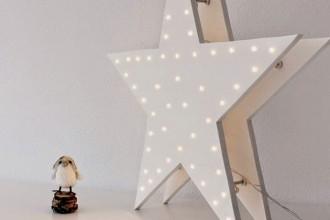 DIY, estrella de luces, navidad, estrella luminosa, decoratualma, dta