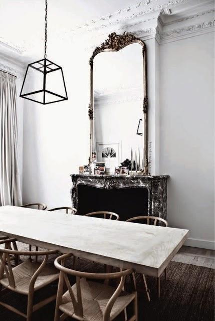 Siete motivos para colocar un espejo en tu comedor for Espejos rectangulares para comedor