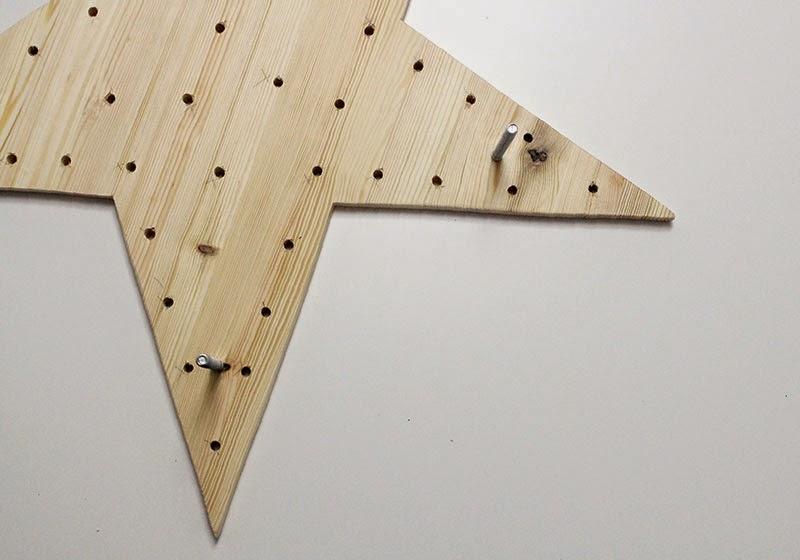 DIY Estrella de Luces: agujeros para la lucecitas