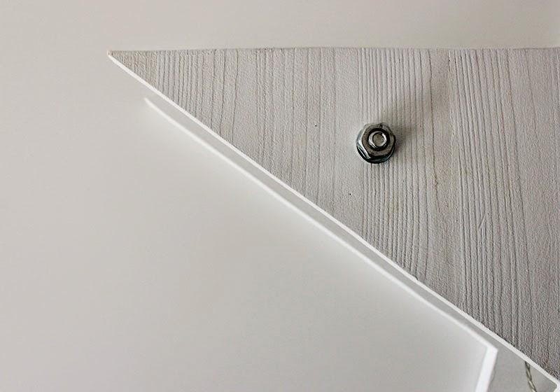 DIY Estrella de Luces: unión con tuerca y arandela