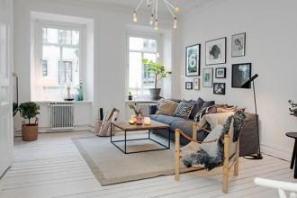 Casa, apartamento, estilo nordico,