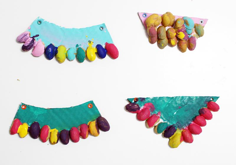 DIY collar de pistachos9
