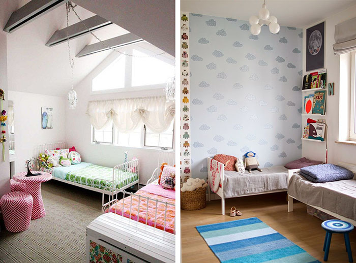 Dormitorios infantiles compartidos decoratualma - Habitaciones originales para ninos ...
