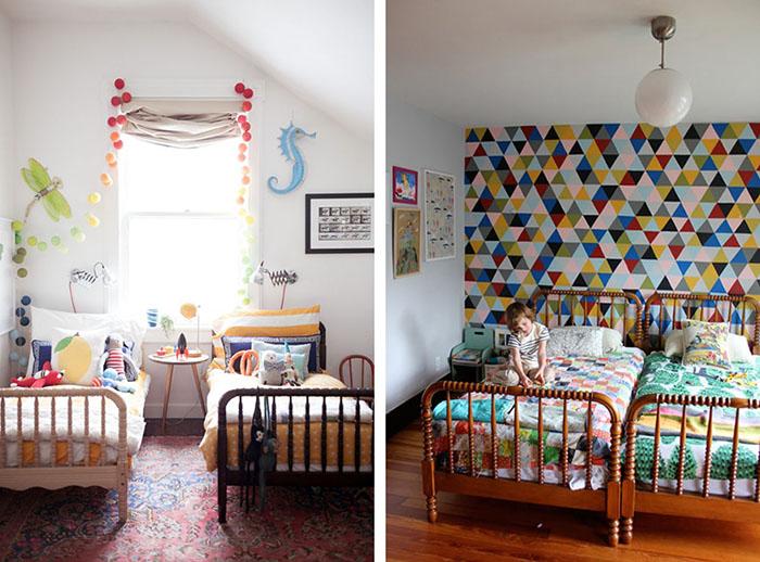 Dormitorios infantiles compartidos decoratualma - Habitaciones con dos camas ...