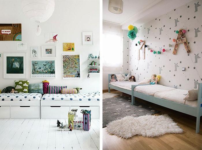 Dormitorios infantiles compartidos decoratualma - Letras para habitaciones infantiles ...