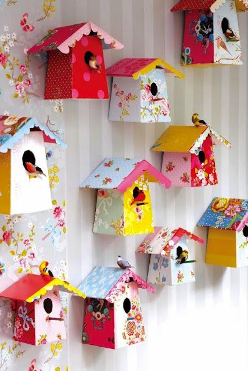 Manualidad DIY DO IT YOURSELF Decoratualma DTA casita para pajaros de carton