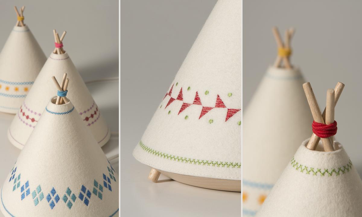 Buokids Decoratualma - Lámpara Tipi. Diseño, iluminación, infantil, niños