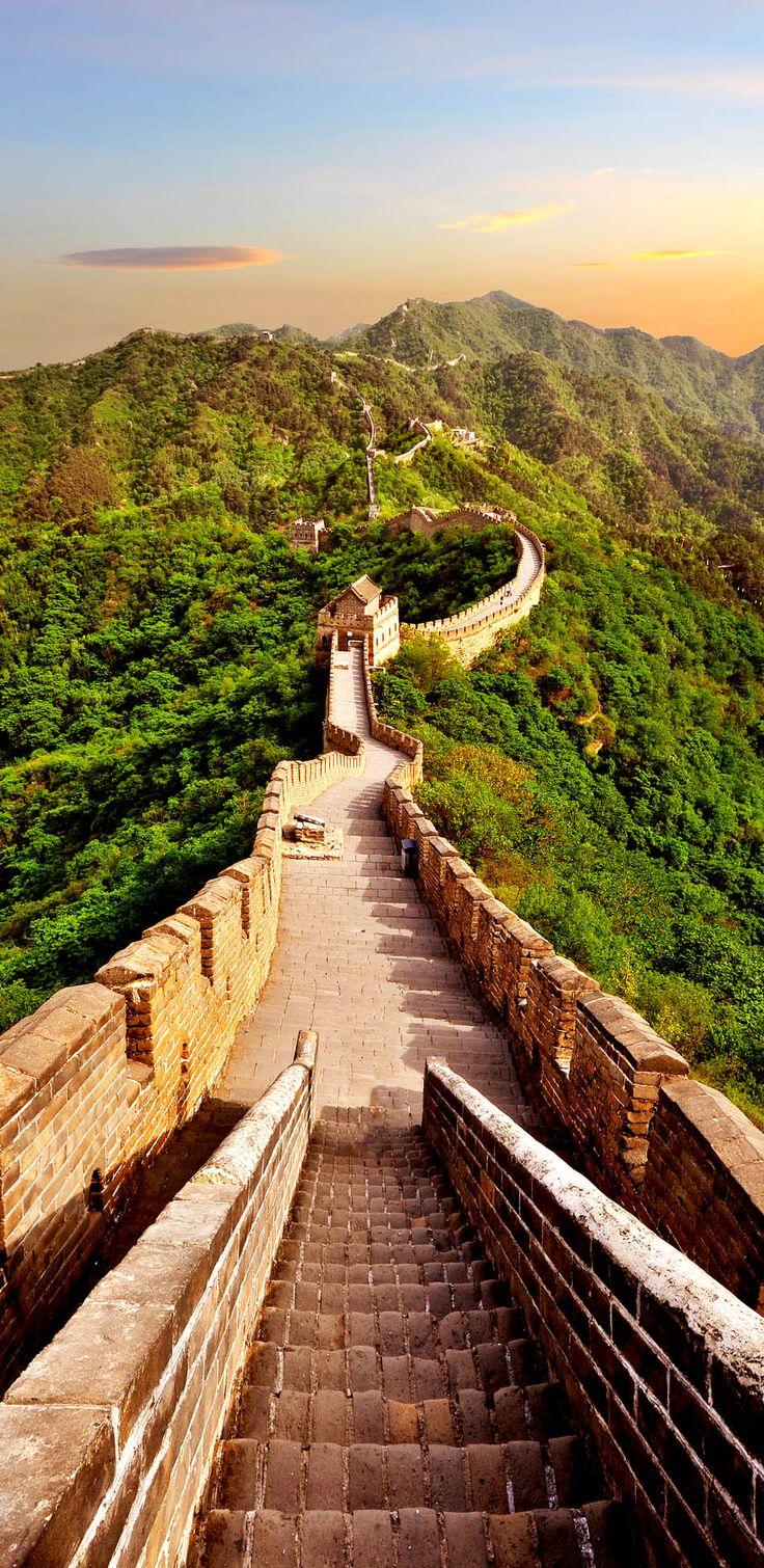 china,muralla,verde,montaña