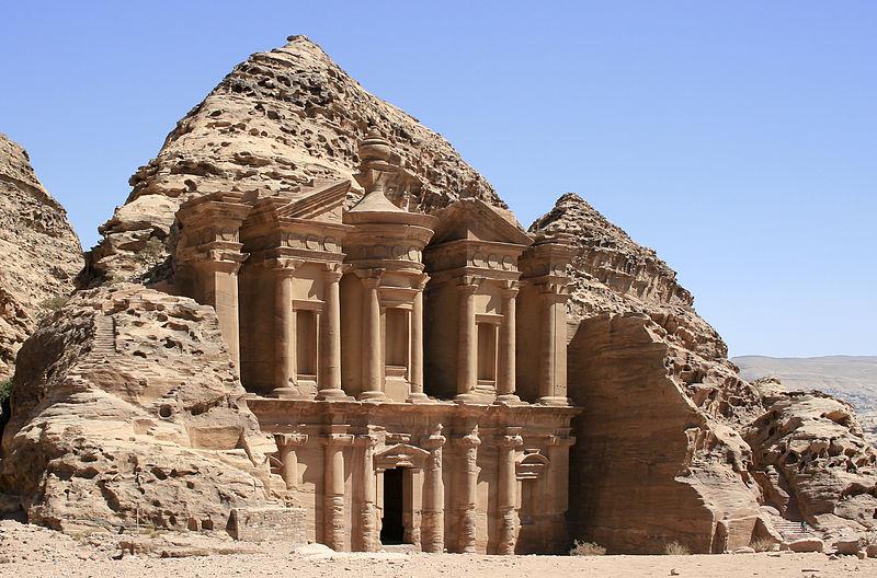 monasterio,jordania,petra,