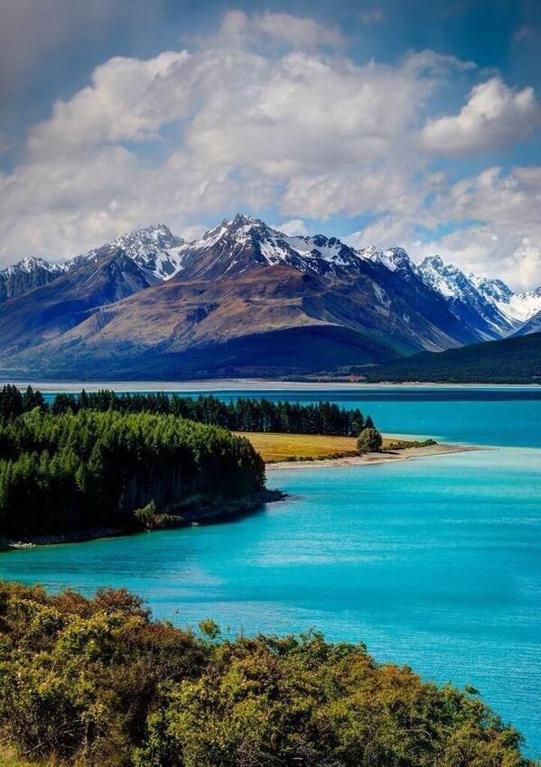 playa,agua,mar,montaña,nieve,verde