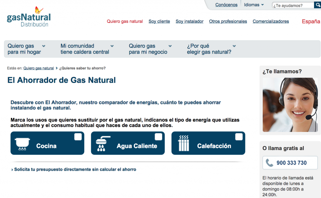ahorro con gas natural