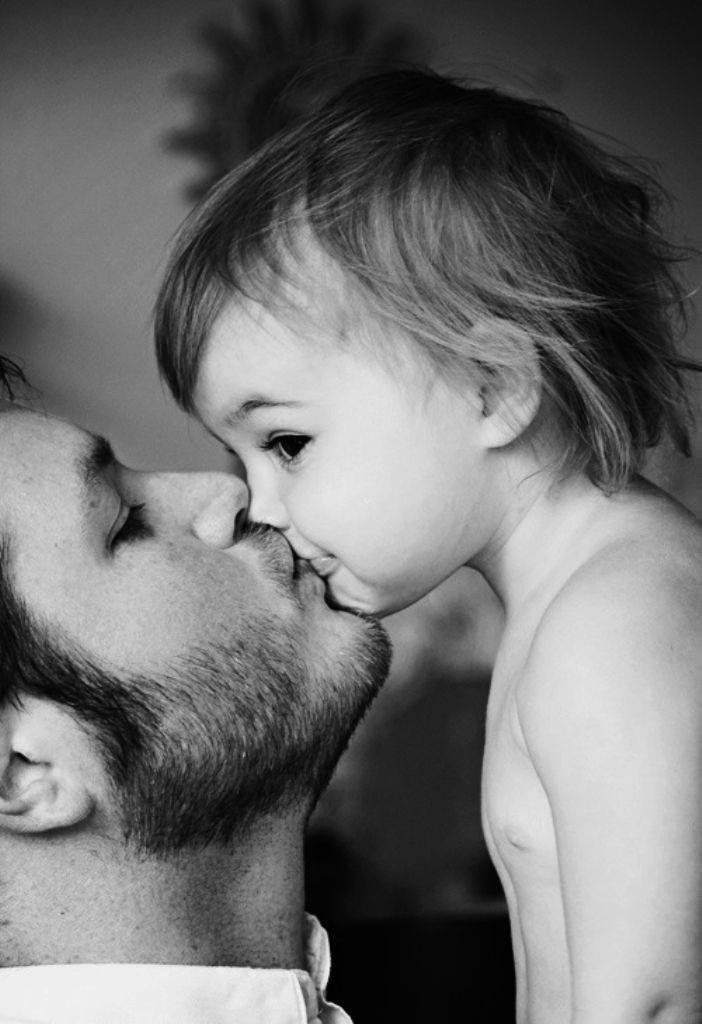 beso a papa