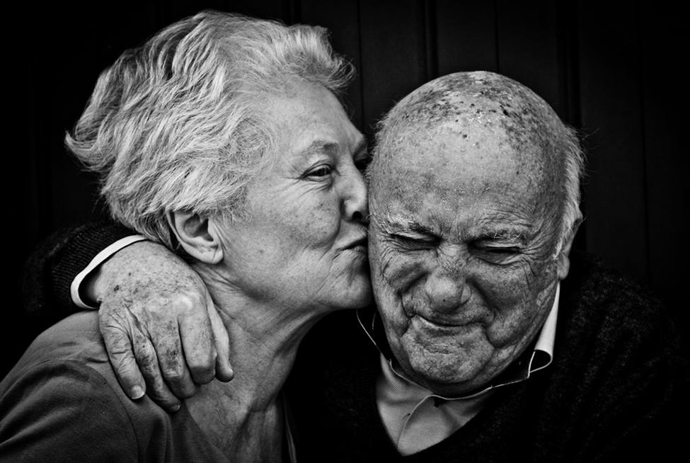 beso de toda una vida de amor
