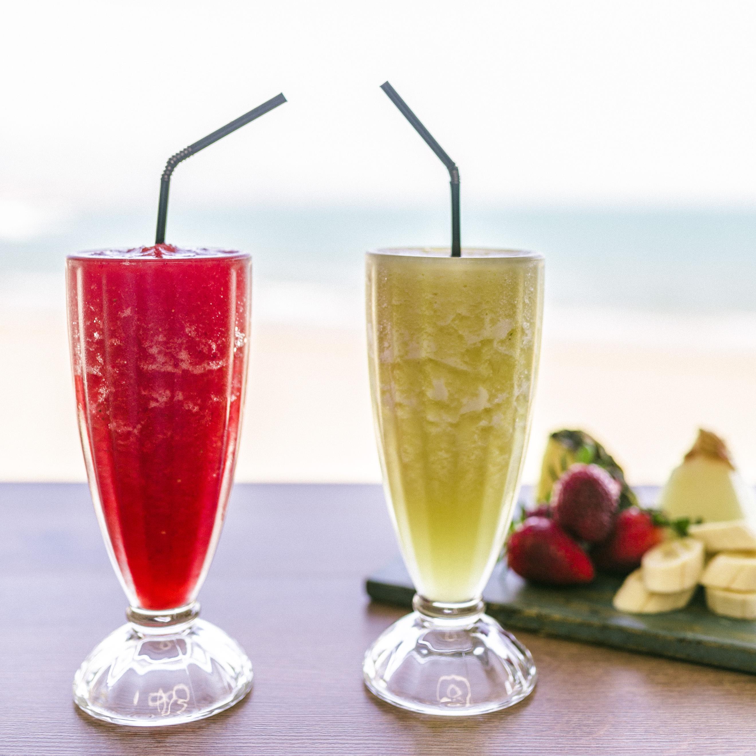 batidos, fruta, playa, verano