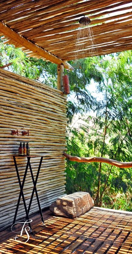 áfrica,ducha,madera,verde,exterior