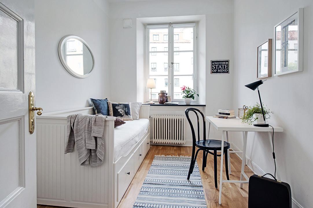 Apartamento n rdico chic decoratualma for Dormitorio estilo nordico ikea