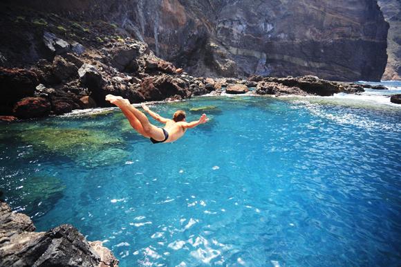 agua,piscina,natural,roca