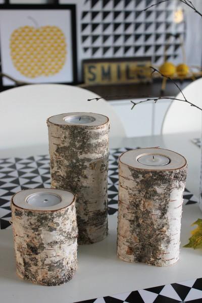 velas,madera,tronco pequeño