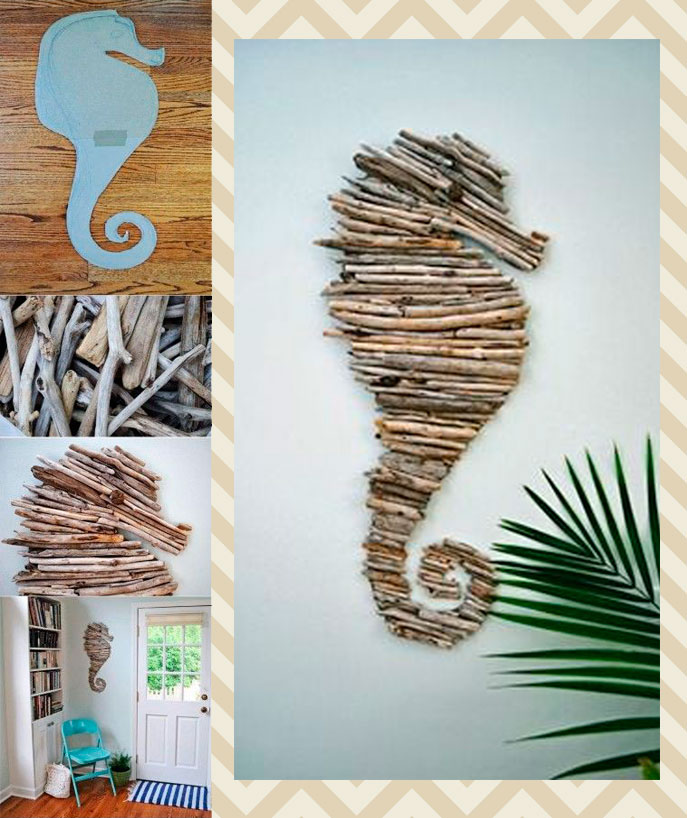 DIY,caballito,mar,madera