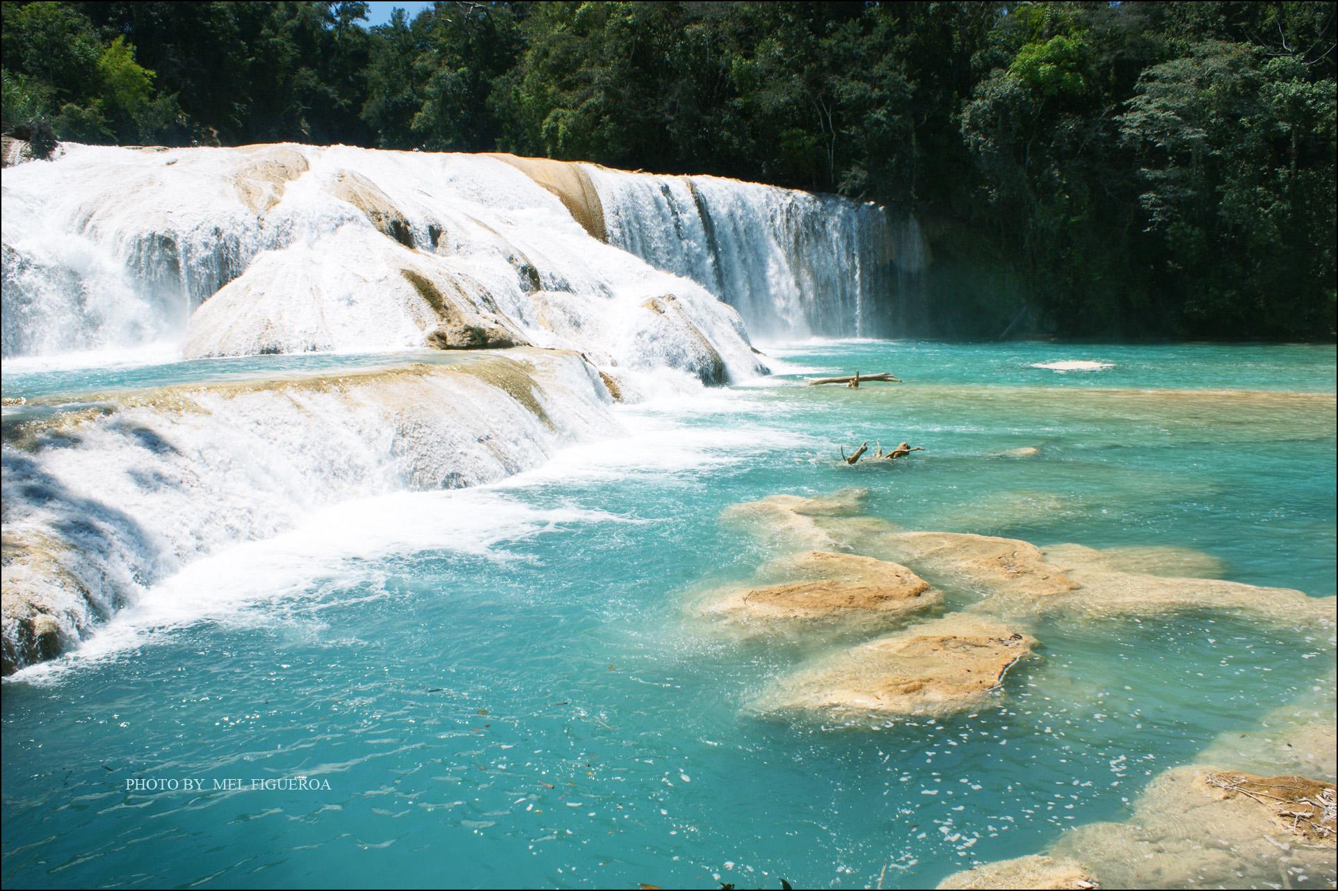 agua azul,cascada