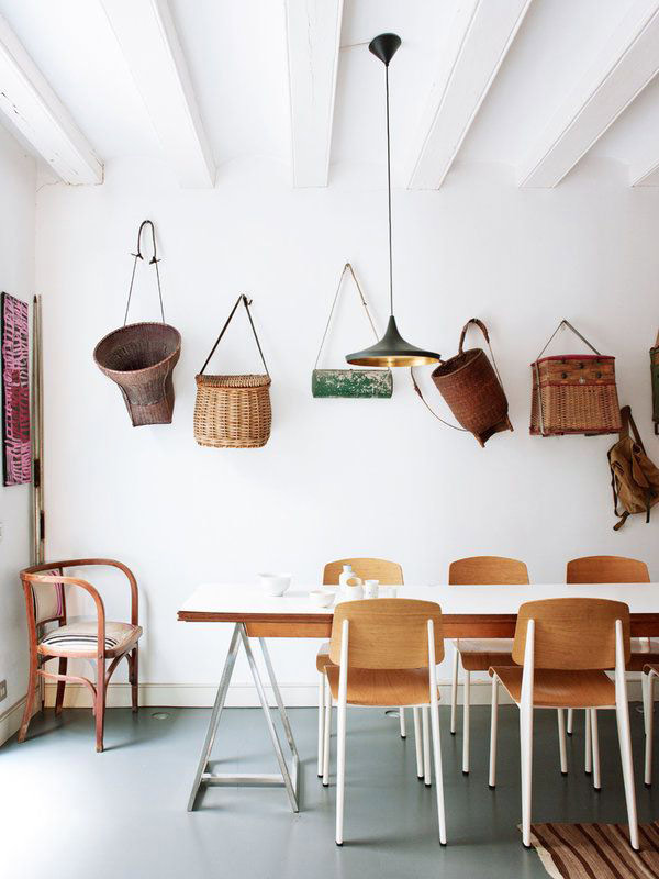 Comedor con capazos decoracion decoratualma casa exterior verano dta
