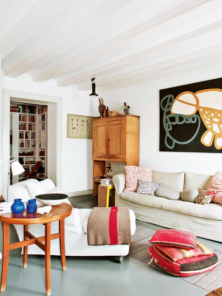 Salón sofa decoratualma boho