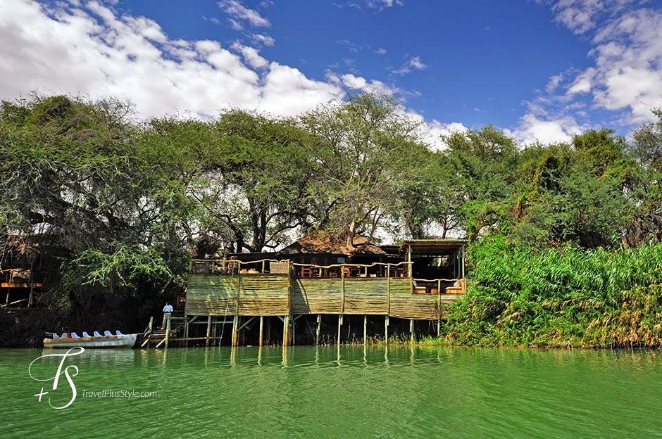 casa,lago,verdoso,árboles
