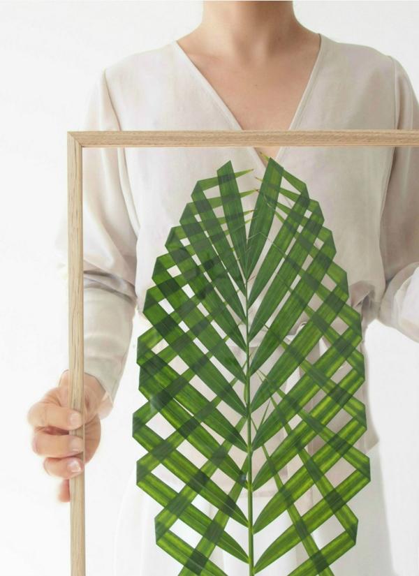 1 DIY Decoratualma hoja palmera enmarcada