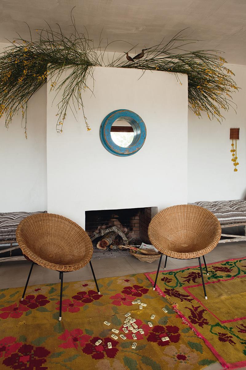 silla,sillas,mimbre,espejo,alfombra,étnico