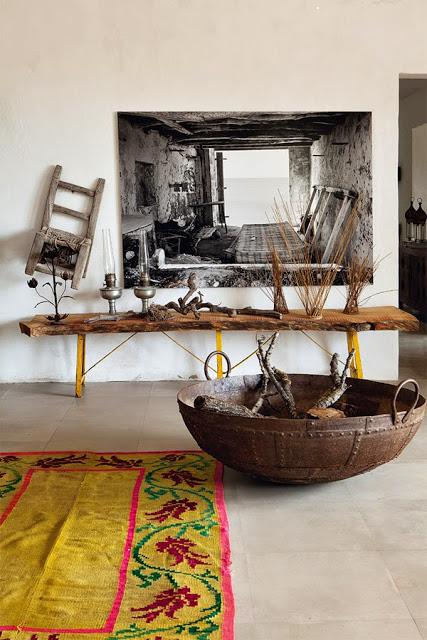 banco,madera,alfombra