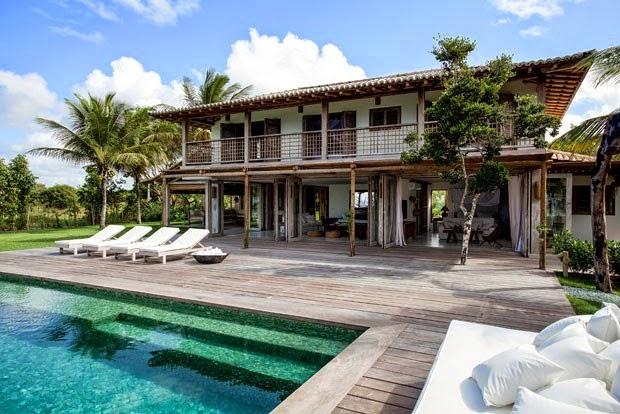 casa,fuera,piscina,madera