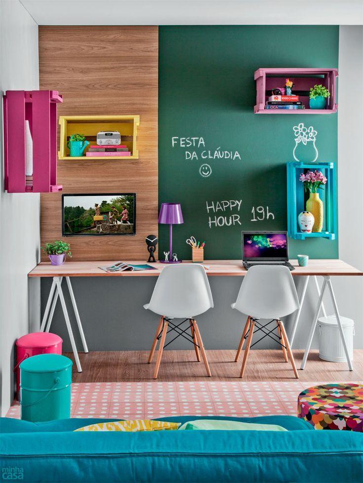 espacio de trabajo colores decoratualma con pizarra DTA