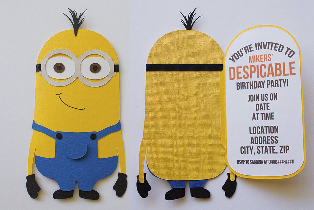 minion,carta,invitación,cumple