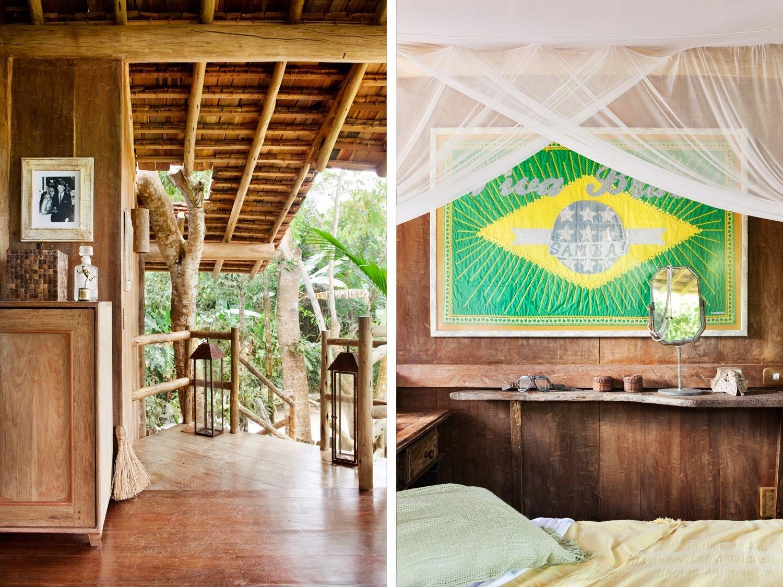casa,madera,brasil,entrada,bandera