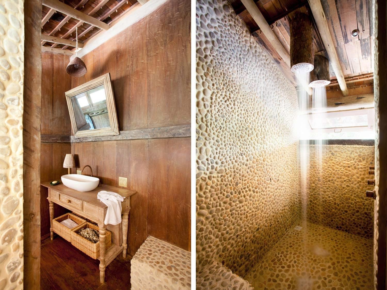 casa,madera,baño,piedras