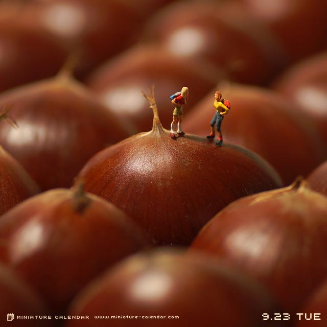 Arte calendario miniatura