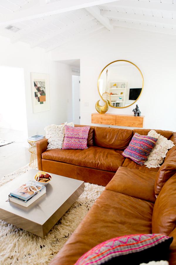 3 salon sofa esquinero decoratualma piel dta home eclectico boho bohemio