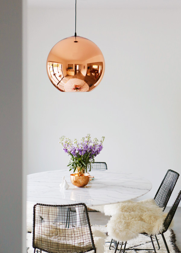 4 comedor tulip mesa lampara cobre decoratualma dta sarah nordico eclectico boho bohemio