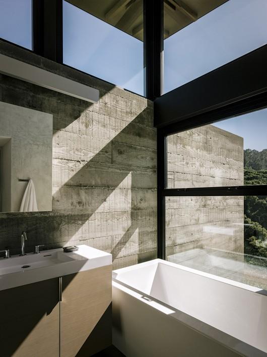 baño, ventana, ventanal, mármol,
