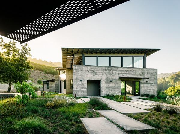 casa,verde,cemento,preciosa,grande,